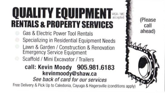 Quality Equipment Rentals and Property Services